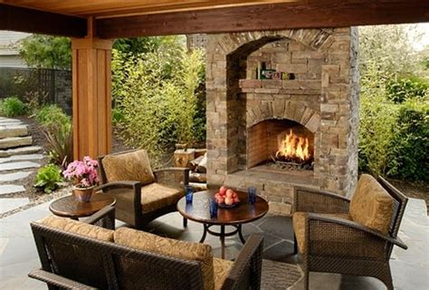 Backyard Fireplace Ideas by Outdoor Gas Fireplaces Landscaping Network