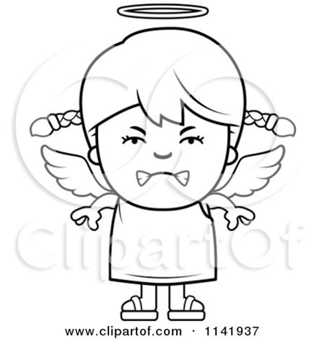 royalty  rf mad angel clipart illustrations vector graphics
