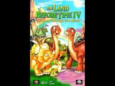 opening to the land before time iv journey through the mists 1996 vhs
