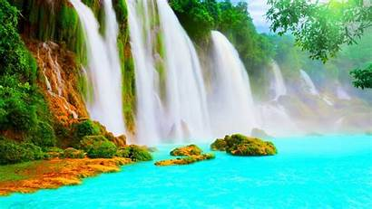 Scenery Wallpapers Water Waterfall Scenic Nature Beauty