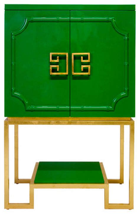 gardenweb kitchen cabinets worlds away cabinet green lacquer gold leaf base 1197