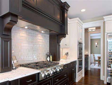 gray subway tile backsplash kitchen traditional  white