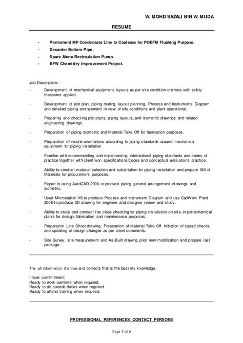pdms piping designer resume sle 55 images youth
