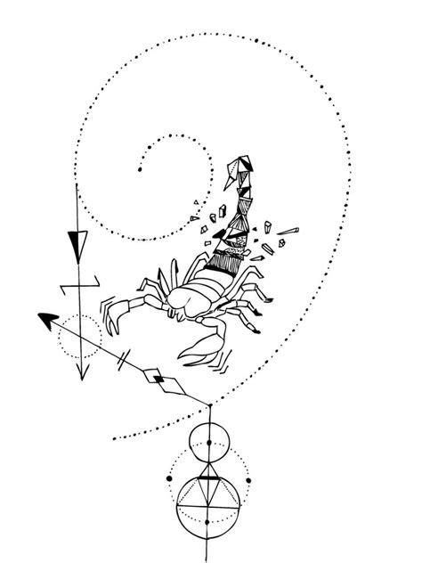 Geometric Scorpion | Geometric tattoo, Scorpio art