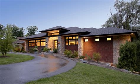 contemporary prairie style house plans small one prairie style home contemporary exterior detroit