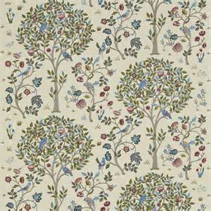 Clearence Curtains by Curtains In Kelmscott Tree Fabric Woad Rose 230343