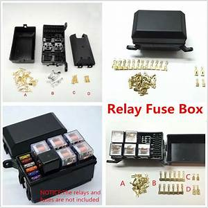 Auto Car Fuse Relay Holder Box Relay Socket 6 Relay 5 Road