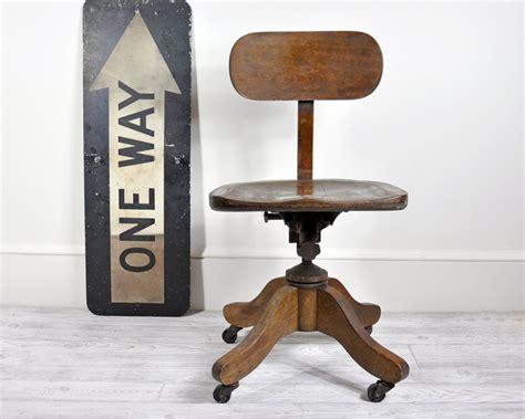wooden swivel desk chair vintage wood office swivel chair desk chair office decor