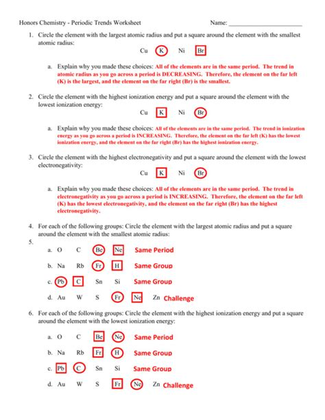 periodic trends worksheet answers homeschooldressage