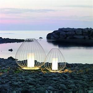 Lampe D Extérieur : lampe poser d 39 ext rieur cell blanc 90cm karman luminaires nedgis ~ Teatrodelosmanantiales.com Idées de Décoration