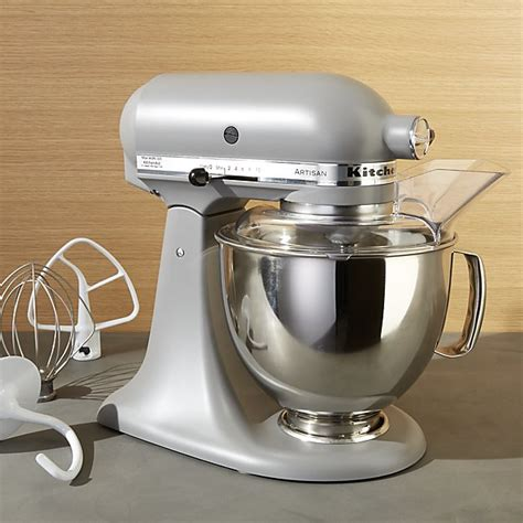 kitchen aid mixer colors kitchenaid 174 artisan matte grey stand mixer crate and barrel 4972