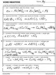 Worksheets Worksheet Word Equations word chemical equations worksheet rringband similiar equation keywords