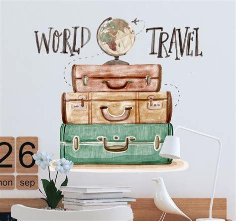 world travel decorative wall sticker tenstickers