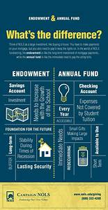 Catchy Fundraising Slogans Endowment Vs Annual Fund Infographic By Halloran