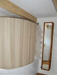 Tringle D Angle Pour Rideau : barre rideau de douche pour baignoire asymetrique ~ Premium-room.com Idées de Décoration