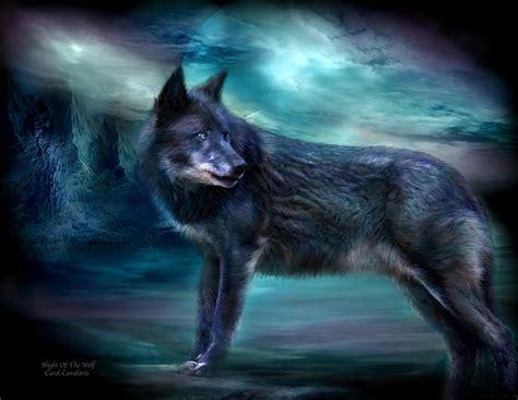 Night Of The Wolf Mixed Media By Carol Cavalaris
