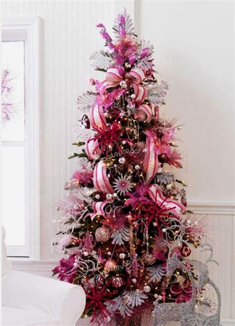 cute  beautiful pink christmas tree decorating ideas