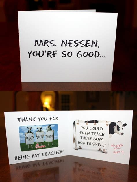 Chick-fil-A Teacher Appreciation Gift Card   Craft Ideas ...