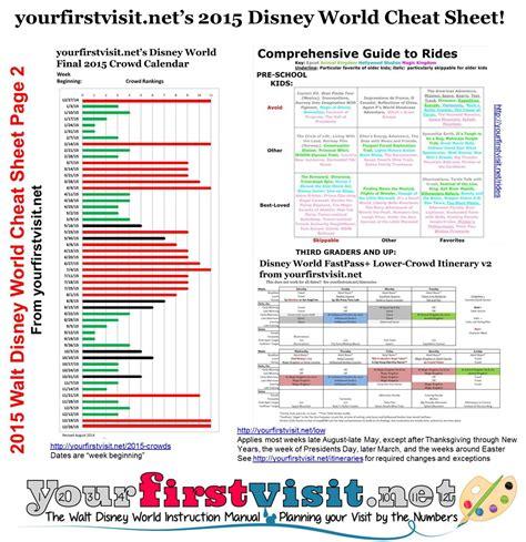 sheet for walt disney world in 2015 yourfirstvisit net