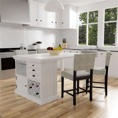 table height kitchen island shop furniture of america cottage style antique white 5971