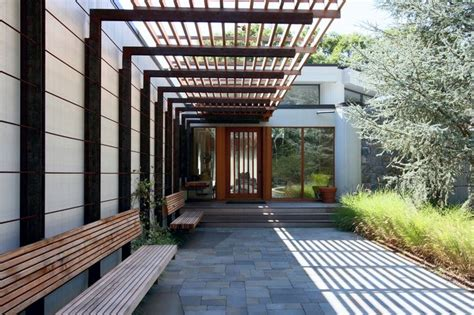 east hampton residence steel pergola pergola shade