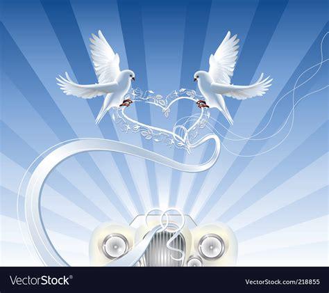 Wedding doves Royalty Free Vector Image VectorStock