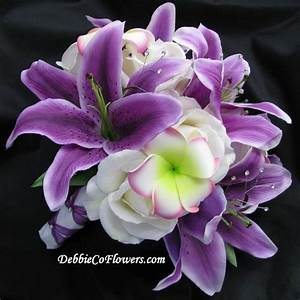 purple stargazer lily | Real Touch Bouquet Purple ...