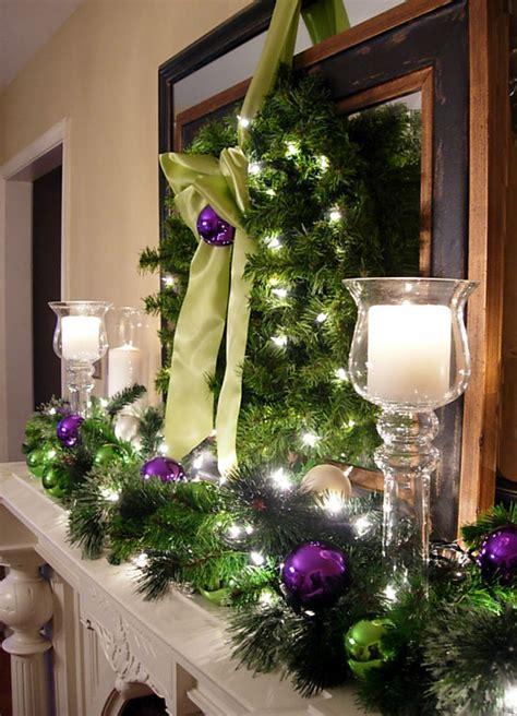 festive christmas mantel decorating idea    style