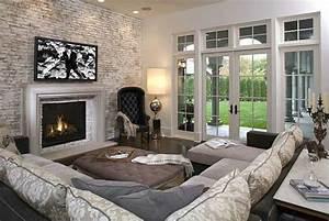 Steinwand Wohnzimmer Tv : steinwand wohnzimmer ein frischer hauch in ihrem zuhause ~ Bigdaddyawards.com Haus und Dekorationen