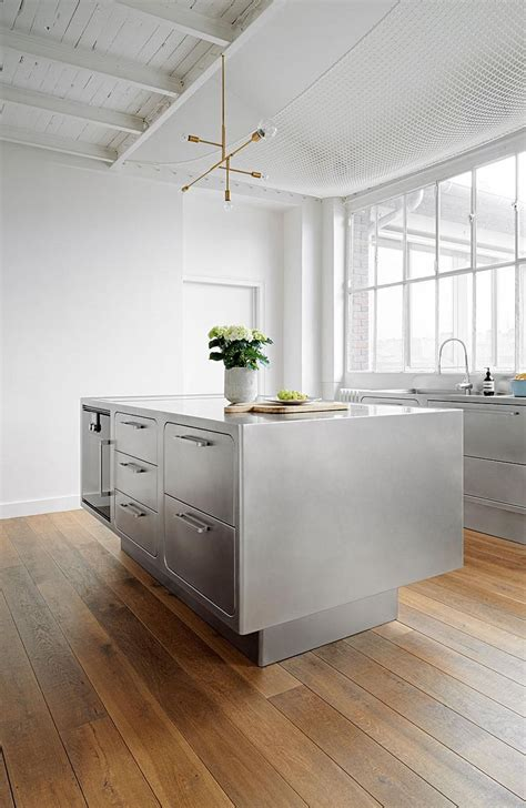 stainless kitchen island sizzling stainless steel kitchen brings home professional