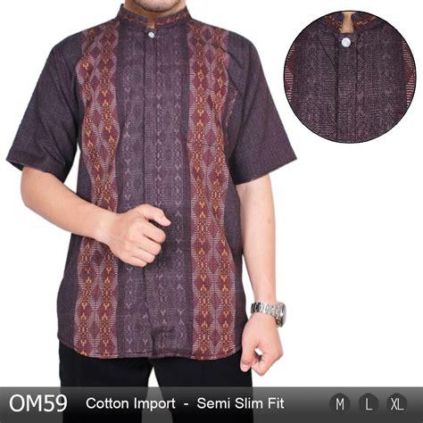 jual baju busana muslim kemeja koko slim fit terjual
