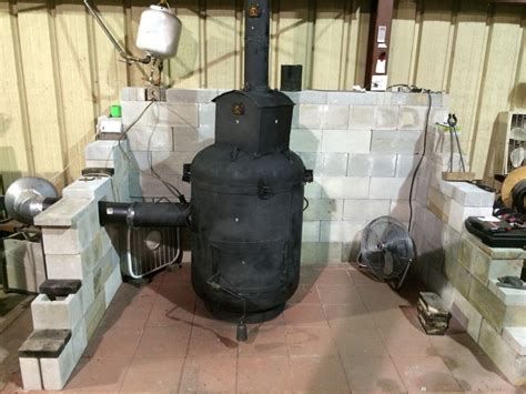 waste oil drip burner setup        steel