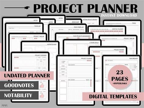 project planner digital planner goodnotes planner