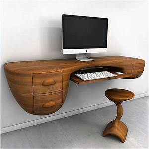 5 cool and innovative computer desk designs for your home for Cool desks for home office