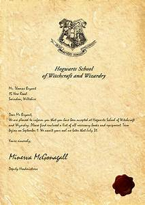 My hogwarts acceptance letter sadly my owl died from for Harry potter letter
