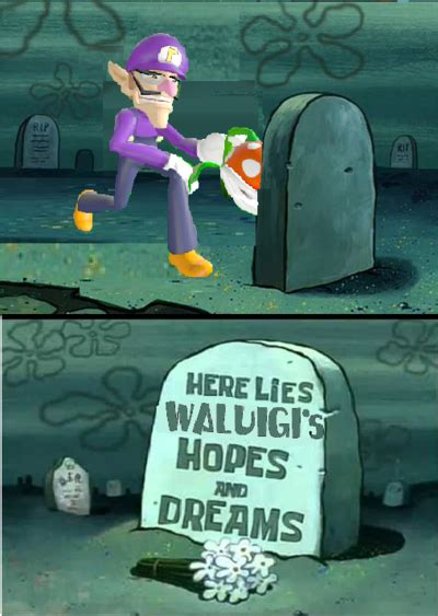 Hopes And Memes - here lies waluigi s hopes and dreams by irkenartwork12 on deviantart