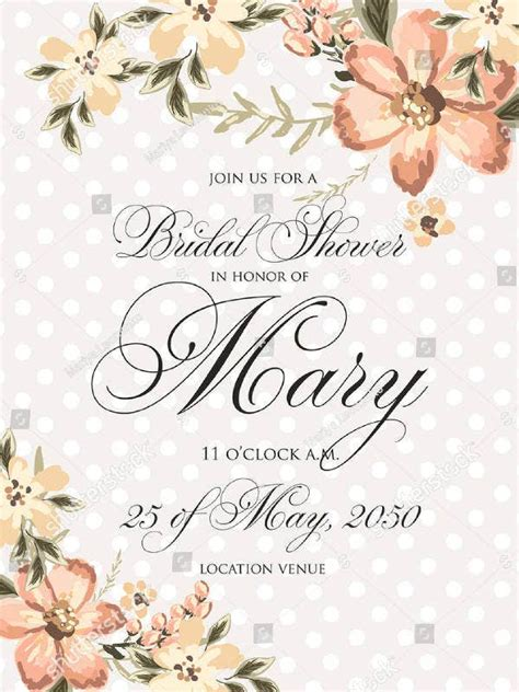 rustic bridal shower invitation designs templates