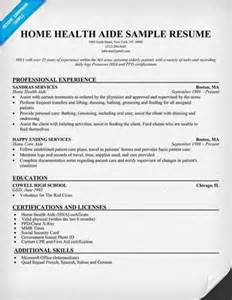 Aide Resume by Home Health Aide Resume Objective