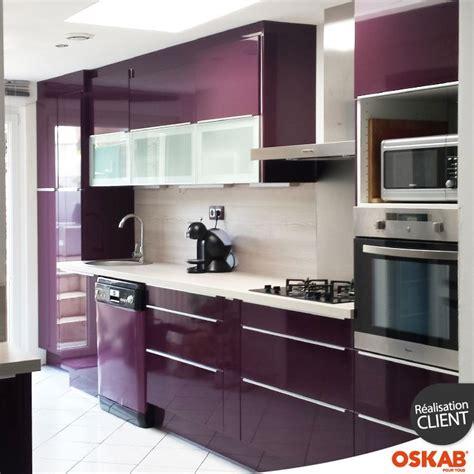 wall kitchen cabinets cuisine couleur aubergine ultra moderne et color 233 e 3313
