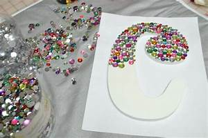 initials girls and super easy on pinterest With bedazzled letters