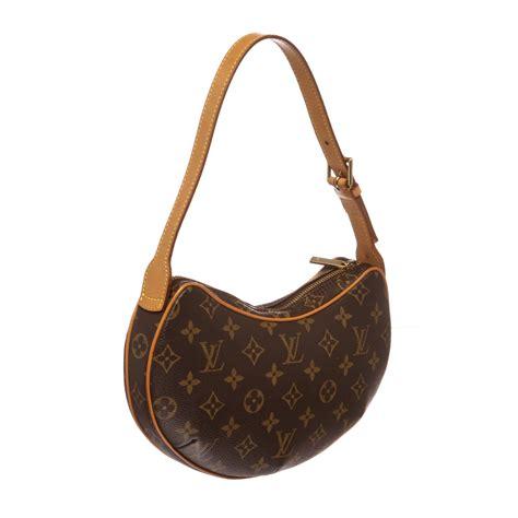 shop  louis vuitton monogram canvas leather croissant pm shoulder bag shipped  usa