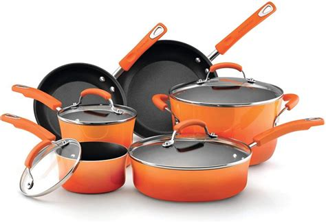 cookware rachael ray glass nonstick stove pots stoves piece
