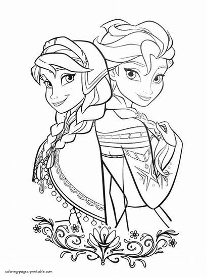 Frozen Coloring Elsa Pages Printable Sheets Anna