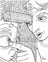 Plank Coloring Pages Eye Speck Sawdust Colouring Bible Own Brother Why Template Firm Stand Goodsalt sketch template