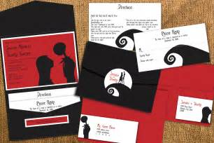 nightmare before wedding invitations nightmare before inspired wedding by papercrew on etsy