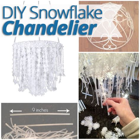diy snowflake chandelier tutorial homes