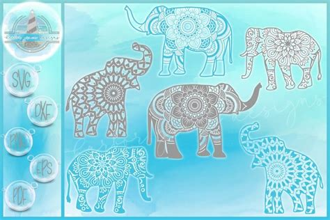 You can display the svg image with animation. 3D Elephant Mandala Layered Svg Free - Layered SVG Cut File