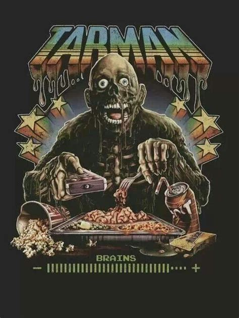 dead return living tarman movies zombie horror movie zombies artwork 80s poster brains fan films bryan baugh shirt posters 1985