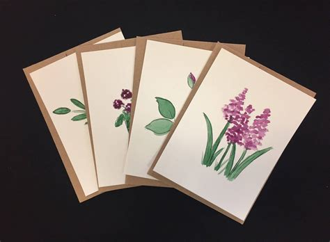 Maybe you would like to learn more about one of these? Customized watercolor cards with purple flowers Just because | Etsy | Watercolor cards, Paint ...