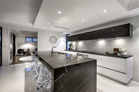 White And Black Handleless Kitchens  True Handleless